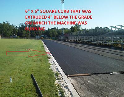 Extruded Curb Below Grade