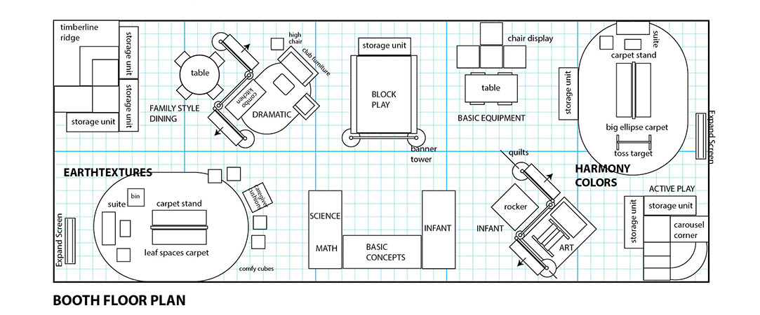 Exhibition Booth Plan : Trade show display for environments miller design