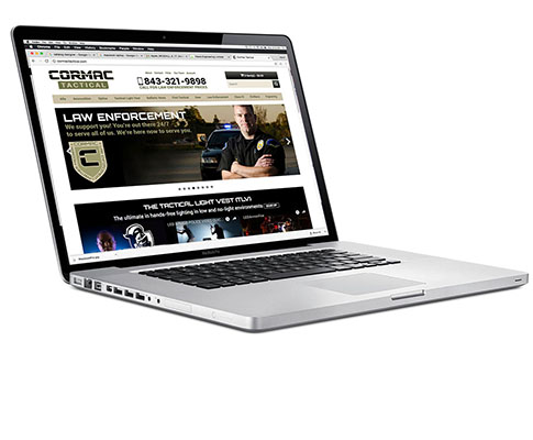 E-Commerce Website Design for Cormac Tactical