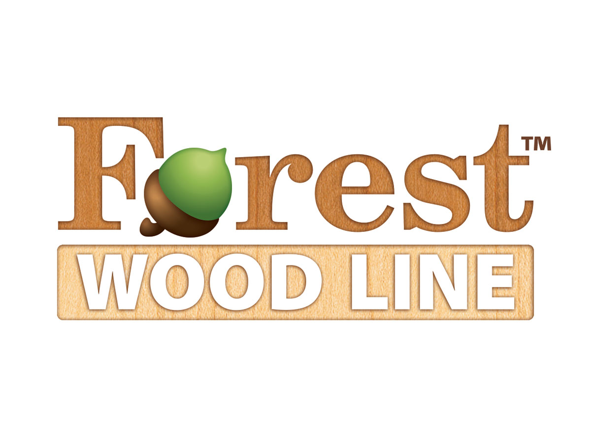 Forest Wood Line Furniture logo design