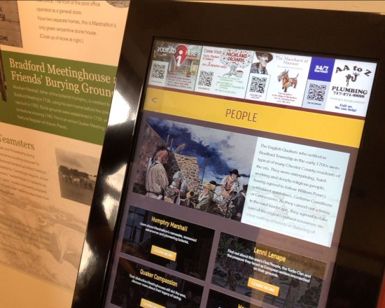 Interactive Kiosk and Graphics for Friends of Martin's Tavern