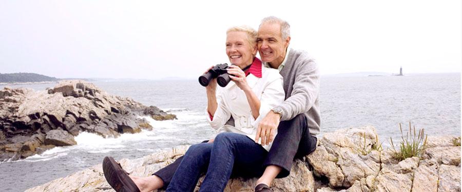 older couple enjoying ocean view