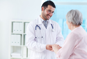 doctor talking with patient about end of life planning