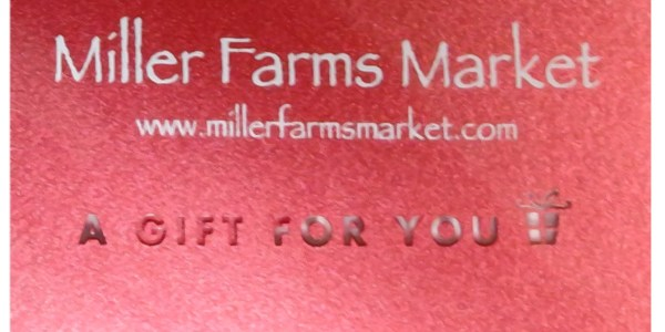Miller Farms Cost Share/Loyalty Card Program!