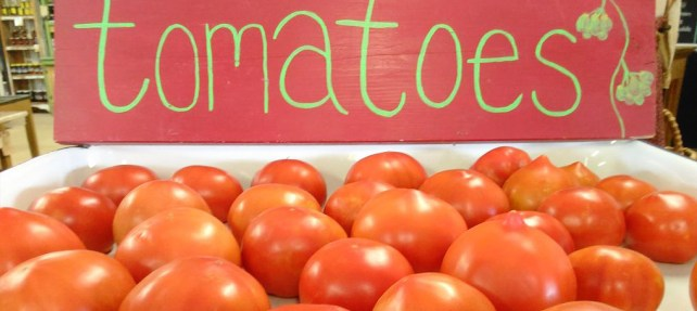 Vine Ripened tomatoes, fresh from our Farm.