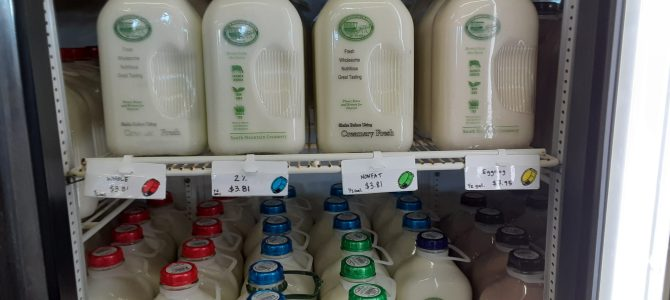 Milk from South Mountain Creamery has been delivered.