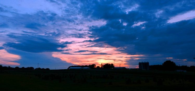 Sunsets, Green Barn Bakery, Milk Delivery, and Strawberry Picking!
