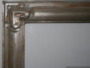 Detail of custom frame