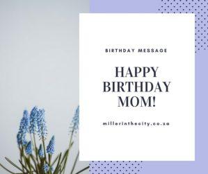 happy birthday dearest mother