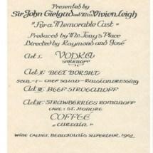 Vivien, Sir John - Toronto menu