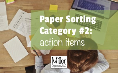 Paper Sorting Category #2: Action Items