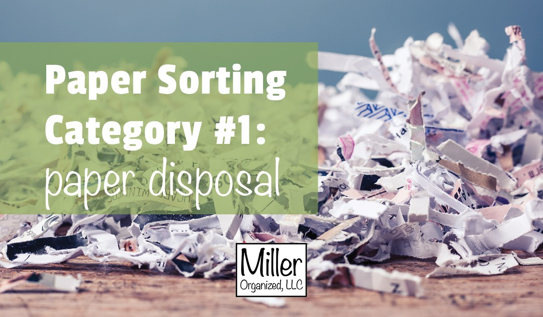 Paper Sorting Category #1: Disposing of Paper