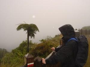 Ausblick bei Nebel