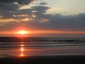 Sonnenuntergang bei Jiquilillo