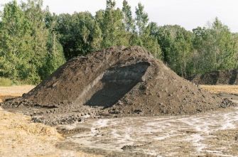 Topsoil pile at tree care by robert miller