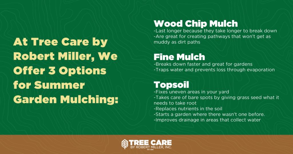 three types of mulch
