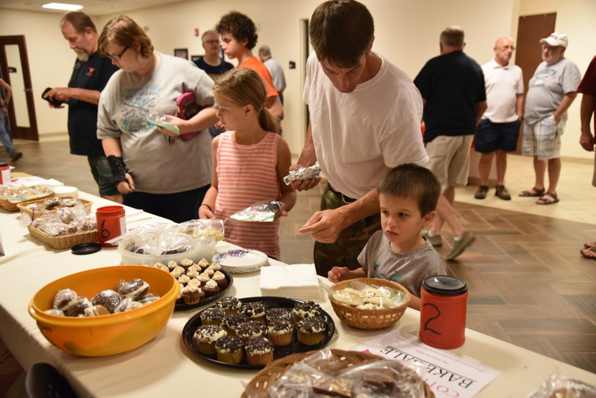 Photo of the bake sale following the 2018 Benefit Concert