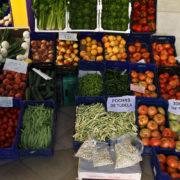 Au marché. LA région de Tudela est reconue pour ses légumes