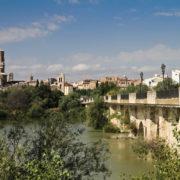 Tudela et son pont sur l'Èbre