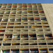 Le Corbusier, La maison radieuse de Rezé, Facade Ouest