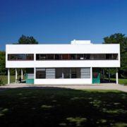Le Corbusier, la villa Savoye, Façade Sud-est