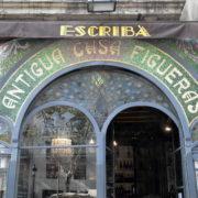 Barcelone, quartier des Remblas, Boutique de style Moderniste