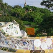 Barcelone, Parc Guell, Banc sinusoïdal