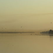A Louxor notre dernier lever de soleil sur le Nil avant le depart pour Hurghada