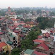 Vue sur Hanoi depuis le 7e étage de notre hotel