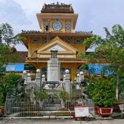 Au marché Binh Tây, jardin central