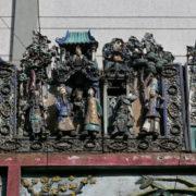 le temple de Thien Hâu: des fresques en céramique...