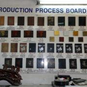 les nombreuses phases du processus de fabrication du bois laqué