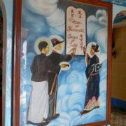 Les 3 guides spirituels du caodaïsme: Sun Yat Sen, Nguyen Binh et Victor Hugo.