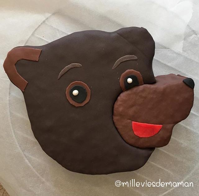gateau petit ours brun