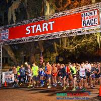 "Race Review: 2016 Best Damn Race Safety Harbor Half Marathon (2/6/2016), or: ""T'aint no big thing to wait for the bell to ring..."""