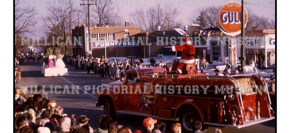1964 Christmas Parade, Catawba Street, Belmont, North Carolina