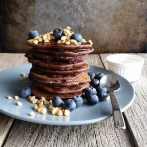Vegan Choc Blueberry Pancakes