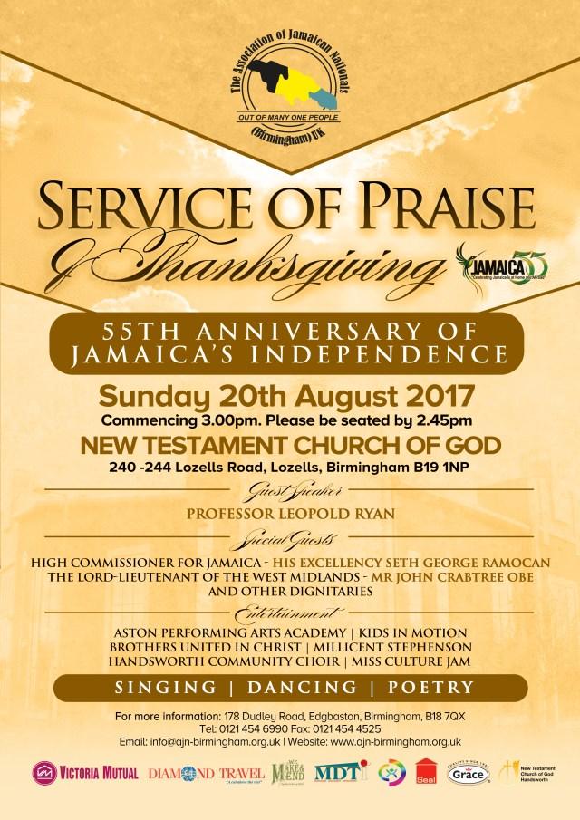 Millicent Stephenson Association of Jamaica Nationals Birmingham Service 2017