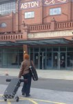 Millicent (Saxophonist) Arriving to AVC Holte Suite 2013