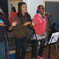 'Not Just Jazz' rehearsal: BVs - Marcia, Taleisha & Natasha.