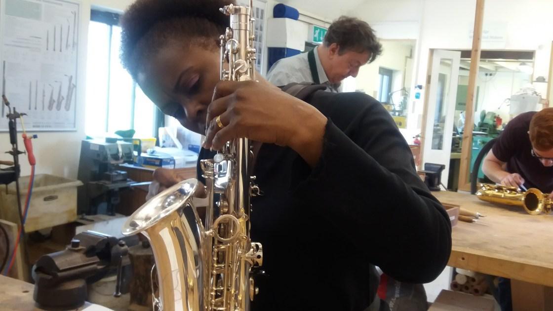 Millicent Stephenson Saxophonist Sax Repairs