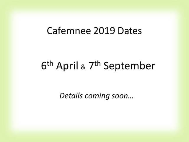 Cafemnee Dates 2019
