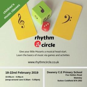 Rhythm Circle Feb 2019 flier