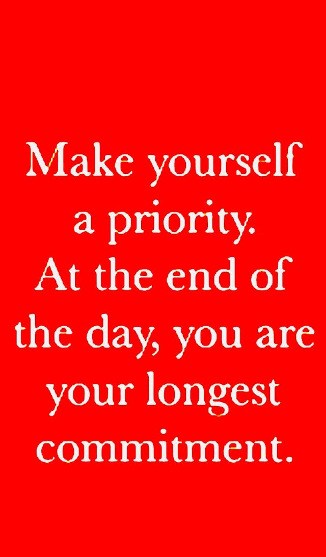 You Are your longest commitment