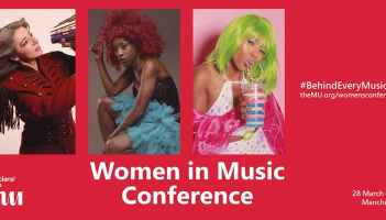 Banner for the Women in Music Conference