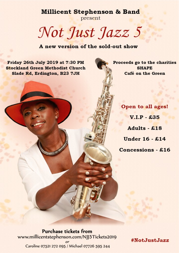 Not Just Jazz 5 2019 Poster Angela Schuster Millicent Stephenson