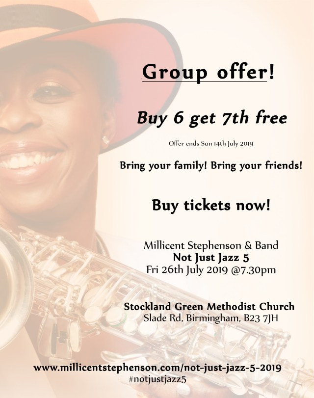 Not Just Jazz 5 Group Ticket Offer Buy 6 7th goes free!
