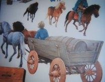 Viking boy in a cart