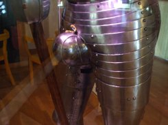 Close-up of Henry's armour