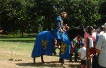 Knight chatting to spectators